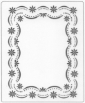 FLOWER SCALLOP BORDER FRAME