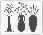 3 VASES WITH PLANTS